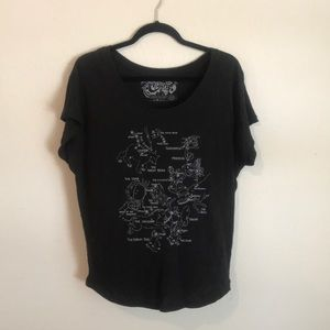 Tops - Relaxed Fit Constellations Tee